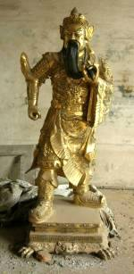 Brass Warrior Statue