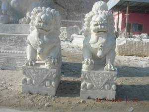 Fu Dogs Foodog Jade Foodogs Marble Fu Dog Carving Temple