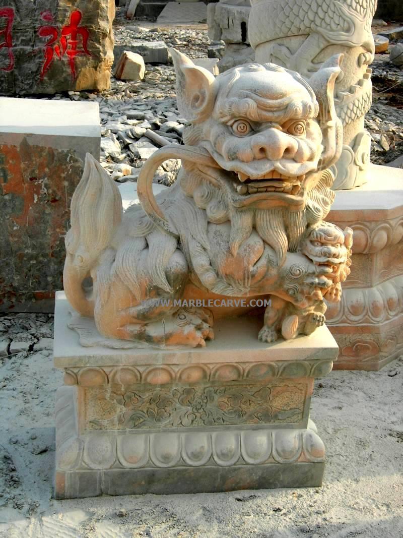 Foo dog statue temple - photo#14