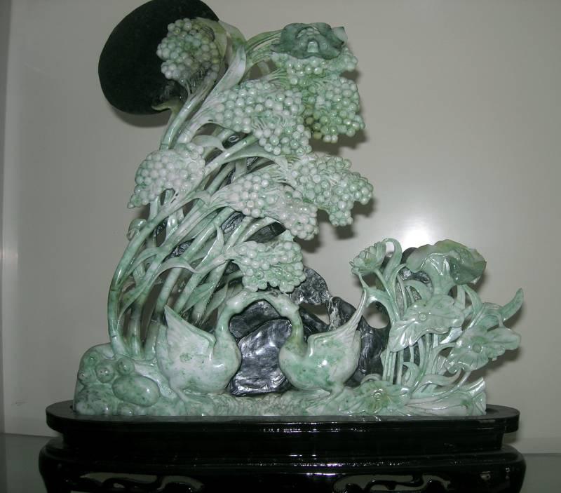 jade carving flower