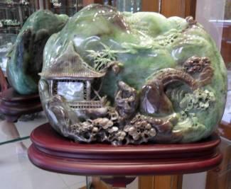 Jade statue carving