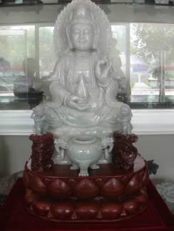 burma jade quanyin Sculpture Carving