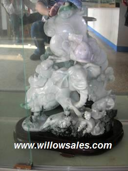 Jade elephant Sculpture Jade Carving Jadeite