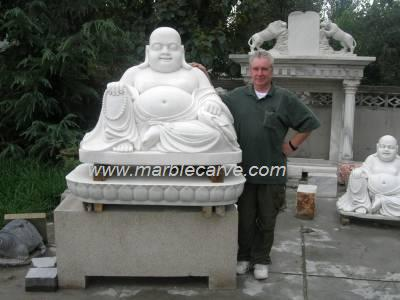 Marble Buddha Statue Carving Photo